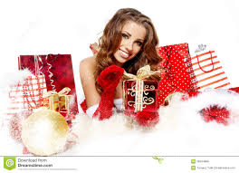 christmas women with gifts royalty free stock photos image 26944988
