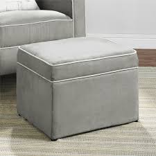 dorel living baby relax abby storage ottoman gray