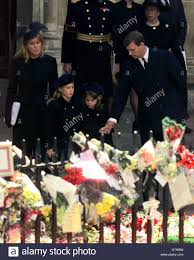 diana burial the duke and duchess of york with their daughters beatrice l and