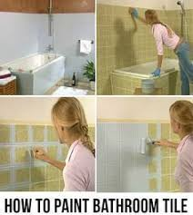 Paint Bathroom Tile Yes You Really Can Paint Tiles Rust Oleum Tile Transformations