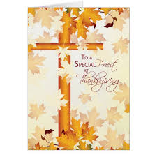 priest happy thanksgiving catholic card zazzle