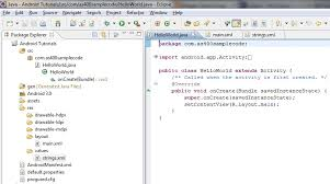 tutorial android using eclipse android hello world tutorial using eclipse for beginners step by