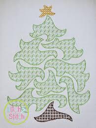 swirly tree motif embroidery