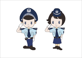 cute cartoon modelling of the chinese police coreldraw vectors cdr