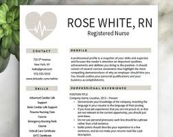 nursing resume template resume etsy