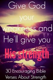 encouraging bible verses strength