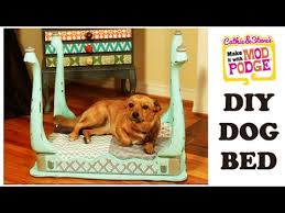 dog beds made out of end tables diy mod podge furniture flip dog bed made from an end table youtube