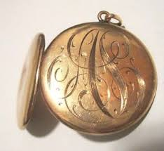 monogrammed locket antique 10k yellow gold monogrammed locket pendant ebay