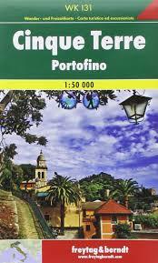 Cinque Terre Map Cinque Terre Portofino F U0026b R Gps Walking Map Amazon Co Uk