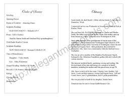 funeral bulletin funeral program format funeral handout template free it resume