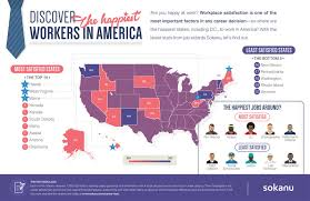 happiest states in america the states with the happiest workers in america