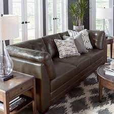 Gray Leather Sofa Slate Gray Leather Sofa Bassett Home Furnishings