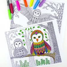 Owl Colouring Pages For Grown Ups Red Ted Art S Blog Owl Coloring Ideas
