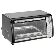 Toaster Oven Black Decker 6 Slice Digital Convection Toaster Oven Black Silver Rona