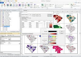 Cartogram Map Mapviewer Features Golden Software