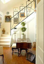 decorating staircase walls with wall art and plates decorating