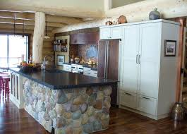 river kitchen island rustic kitchen with kitchen island by miller zillow digs