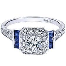 sapphire accent engagement rings gabriel blue sapphire engagement ring
