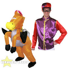 Horse Rider Halloween Costume Inflatable Horse Riding Fancy Dress Ride Suit Novelty Stag