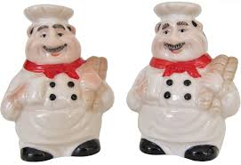 amazon com italian chef salt and pepper shaker set by chef decor