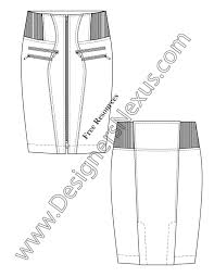 free downloads illustrator skirt flat sketches