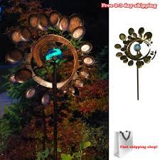 Garden Spinners And Decor Garden Wind Spinner Yard Decor Outdoor Kinetic Metal Art Windmill