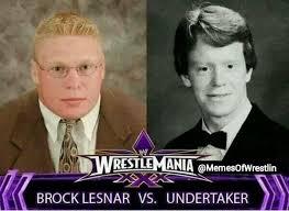 Brock Lesnar Meme - memes of wrestling on twitter brock lesnar vs the undertaker http