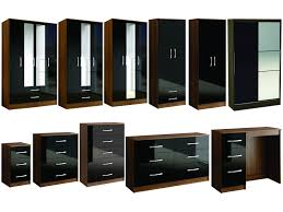 Black High Gloss Bedroom Furniture by Walnut And Cream Gloss Bedroom Furniture Eo Furniture