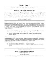 Entry Level Business Administration Resume Sample Resume For Property Manager Free Resumes Tips
