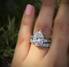 Teardrop Wedding Ring by Big Engagement Rings Are Tacky Designers U0026 Diamonds