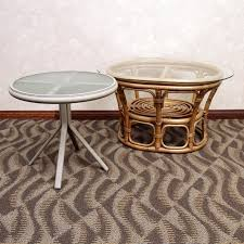 Side Patio Table Rattan Side Table And Metal Patio Table Ebth
