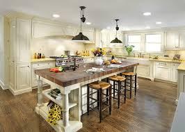 modren butcher block kitchen island breakfast bar with stools and