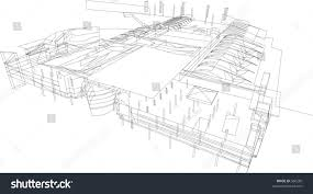 line drawing building stock vector 560260 shutterstock