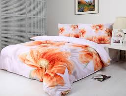 Orange And White Comforter Queen Bed Orange Bedding Queen Kmyehai Com