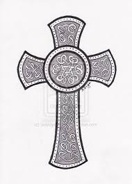 celtic cross design on paper tattoomagz