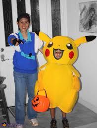 Pikachu Costume Pikachu And Ash Pokemon Costumes For Kids