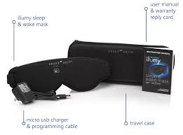 sleep mask light alarm illumy sleep and wake mask the smart sleep mask
