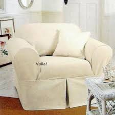 Shabby Chic Couch Covers by Rachel Ashwell White Denim Chair Slipcover Shabby Chic Armchair