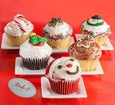 cupcake gift baskets dulcet s christmas assorted festive cupcake gift basket dulcet