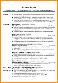 profile exle for resume exles of resume profiles exles of resumes