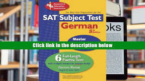 audiobook sat subject test german rea the best test prep for