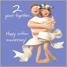 2nd wedding anniversary 2nd wedding anniversary card by holy mackerel office