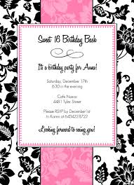 sweet 16 invitation ideas template best template collection
