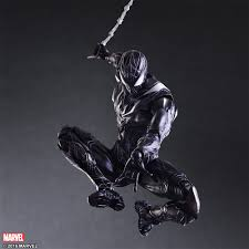 marvel universe variant play arts kai spider man limited color
