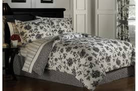Black Floral Bedding Black And Off White Toile Comforter Set Bedding Selections