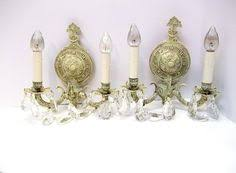 Shabby Chic Wall Sconce by Small Antique White Six Light Crystal Chandelier Petite Crystal