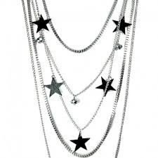 star chain necklace images Fashion jewellery black star multi layer long chain costume necklace jpg