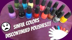 sinful colors discontinued polishes jan u002716 youtube
