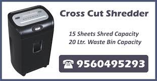 Cross Cut Paper Shredders Paper Shredder Machine In Gurgaon