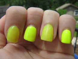 funny face beauty a trick for neon nail polish